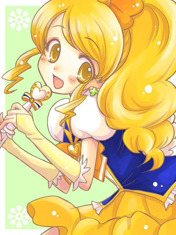 Tags: Anime, Pixiv Id 269157, HappinessCharge Precure!, Cure Honey, Oumori Yuuko, Yellow Skirt, Fanart From Pixiv, Pixiv, Fanart