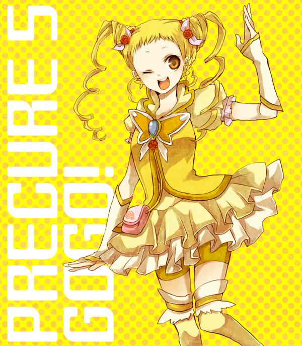 Tags: Anime, Buzz, Yes! Precure 5, Kasugano Urara, Cure Lemonade, Yellow, Pixiv, Fanart, Fanart From Pixiv