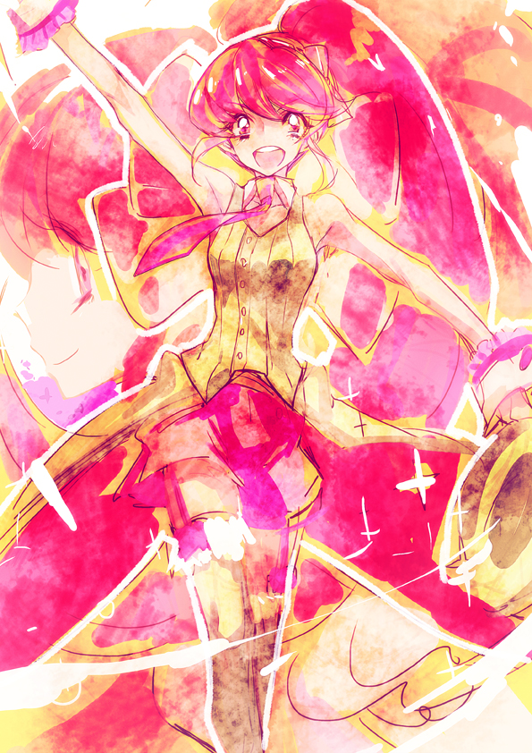 Tags: Anime, Tima, HappinessCharge Precure!, Cure Lovely, Aino Megumi, Magician (Entertainer), Fanart, Fanart From Pixiv, Pixiv