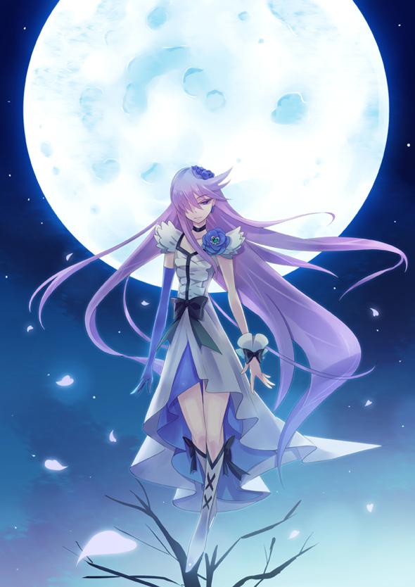 Tags: Anime, Anika, Heartcatch Precure!, Tsukikage Yuri, Cure Moonlight, Mobile Wallpaper, Pixiv, Fanart