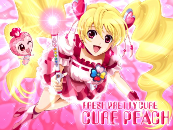 Tags: Anime, Sekken Kasu Barrier, Fresh Precure!, Pirun, Cure Peach, Momozono Love