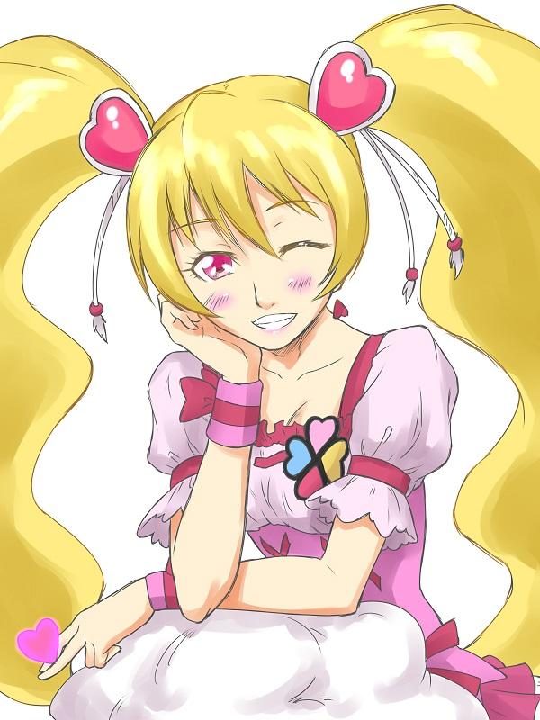 Tags: Anime, Pixiv Id 3411146, Fresh Precure!, Momozono Love, Cure Peach, Pixiv, Fanart From Pixiv, Fanart