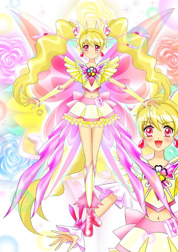 Tags: Anime, Luna Rune, Fresh Precure!, Yes! Precure 5, Cure Peach, Momozono Love, Cure Dream (Cosplay), Fanart From Pixiv, Pixiv, Fanart
