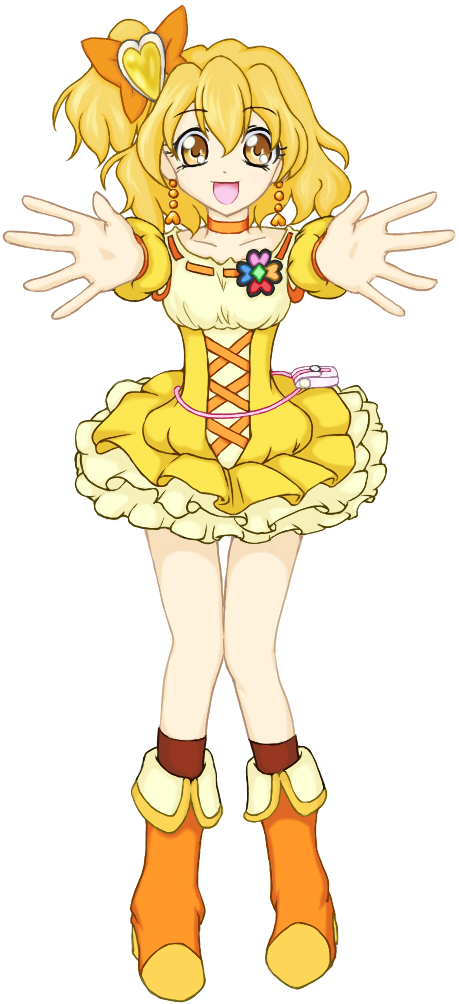 Tags: Anime, Pixiv Id 308038, Fresh Precure!, Yamabuki Inori, Cure Pine, Orange Footwear, Pixiv, Fanart From Pixiv, Fanart
