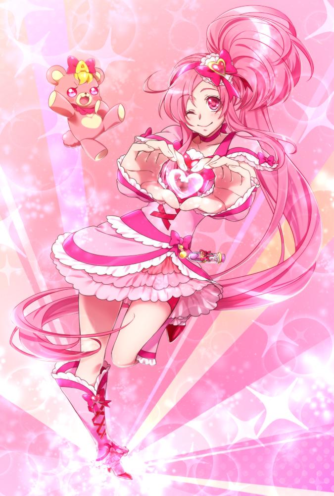 Tags: Anime, 0417nao, Pretty Cure Fan Series, Shuffle! Precure, Aino Hikaru, Cure Prism, Pink Shorts, Pixiv