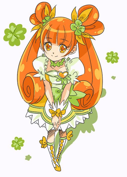 Tags: Anime, cnove, Dokidoki! Precure, Cure Rosetta, Yotsuba Alice, Clover (Plant), Clubs (Card), Pixiv, Fanart From Pixiv, Fanart
