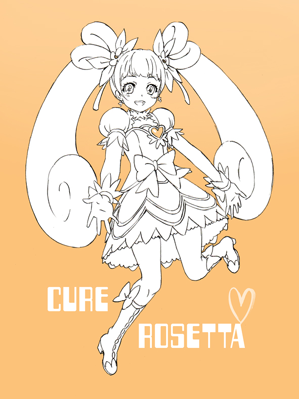 Tags: Anime, Kiriha2929, Dokidoki! Precure, Yotsuba Alice, Cure Rosetta, Fanart From Pixiv, Pixiv, Fanart