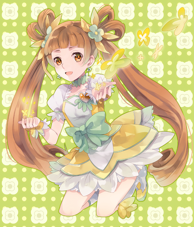 Tags: Anime, Tokashiki, Dokidoki! Precure, Yotsuba Alice, Cure Rosetta, Four-leaf Clover, Clover (Plant), Clubs (Card), Fanart From Pixiv, Pixiv, Fanart