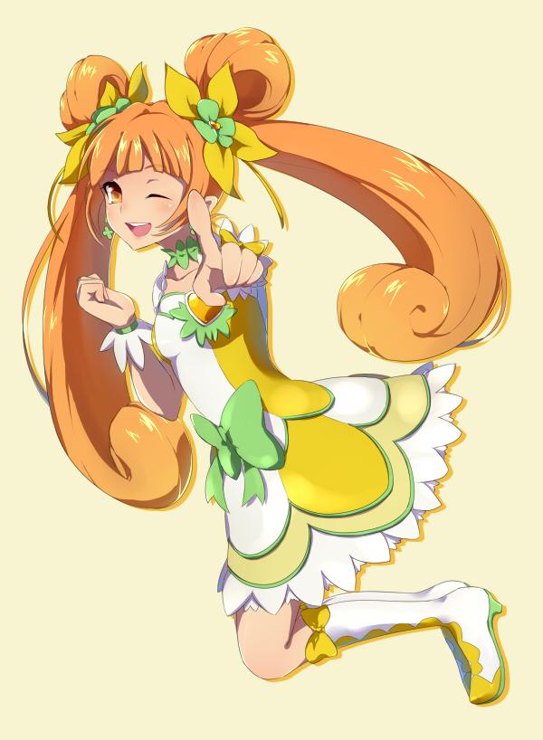Tags: Anime, Pixiv Id 3937764, Dokidoki! Precure, Yotsuba Alice, Cure Rosetta, Pointing at Camera, Fanart From Pixiv, Pixiv, Fanart