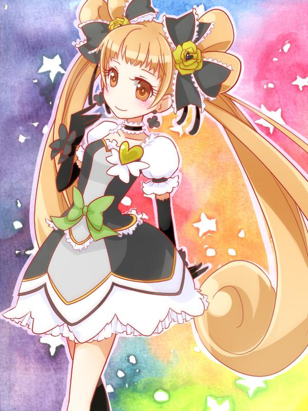 Tags: Anime, Tama (Pixiv ID 2406031), Dokidoki! Precure, Yotsuba Alice, Cure Rosetta, Fanart From Pixiv, Pixiv, Fanart