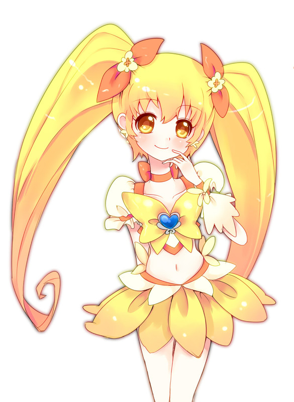 Tags: Anime, Uduki Shi, Heartcatch Precure!, Cure Sunshine, Myoudouin Itsuki, Yellow Skirt, Fanart, Fanart From Pixiv, Pixiv