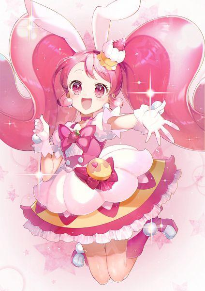 Tags: Anime, Momoshiki Tsubaki, Kirakira☆Precure a la Mode, Usami Ichika, Cure Whip, Pink Footwear, Pink Bow