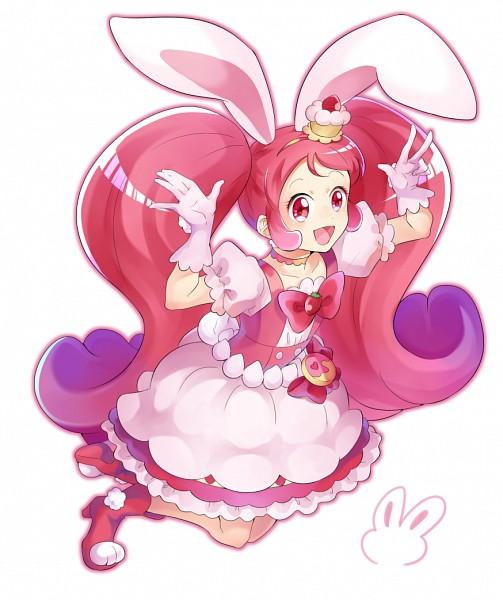 Tags: Anime, Pixiv Id 6544018, Kirakira☆Precure a la Mode, Usami Ichika, Cure Whip, Pink Footwear, Pink Bow