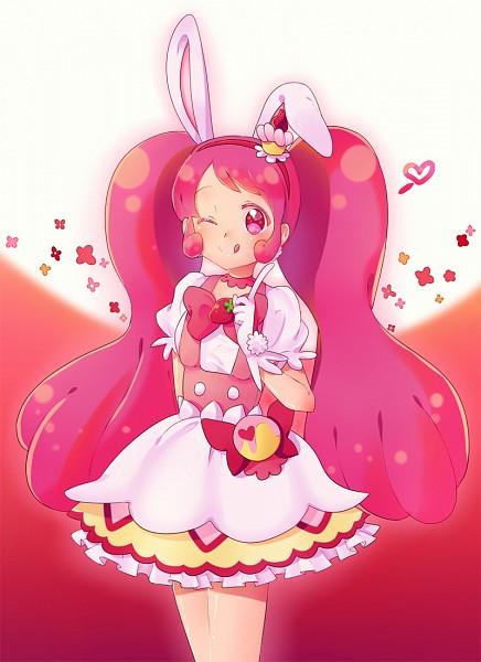 Tags: Anime, Pixiv Id 10881469, Kirakira☆Precure a la Mode, Usami Ichika, Cure Whip, Pink Bow, Licking Lips