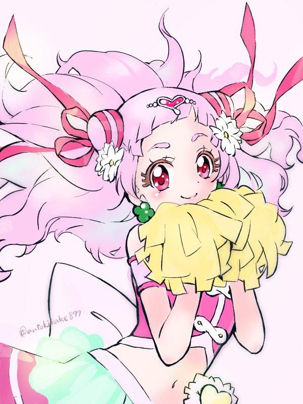 Tags: Anime, Pixiv Id 19769039, HUGtto! Precure, Cure Yell, Nono Hana, Wallpaper, Fanart, Twitter