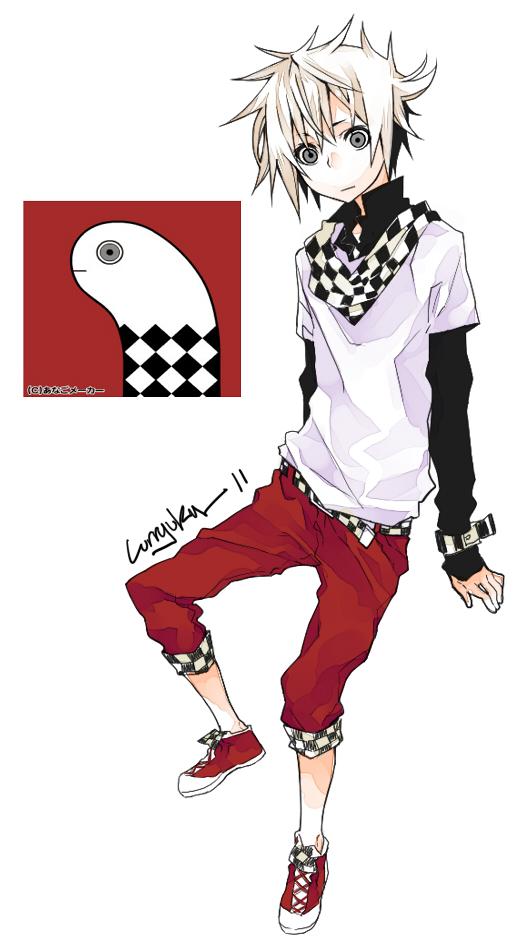 Tags: Anime, Curryuku, Layered Clothes, Red Pants, Wide Eyes, Square, Eel, Capri Pants, deviantART, Original, Mobile Wallpaper