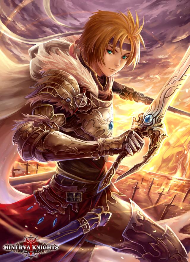 Tags: Anime, El-seluvia, GMO (Studio), Gensou no Minerva Knights, D'Arta of the Azure, Knight, Official Art, deviantART, Official Card Illustration, Mobile Wallpaper