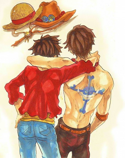 Tags: Anime, Pixiv Id 1849214, ONE PIECE, Portgas D. Ace, Monkey D. Luffy, Straw Hat, Freckles
