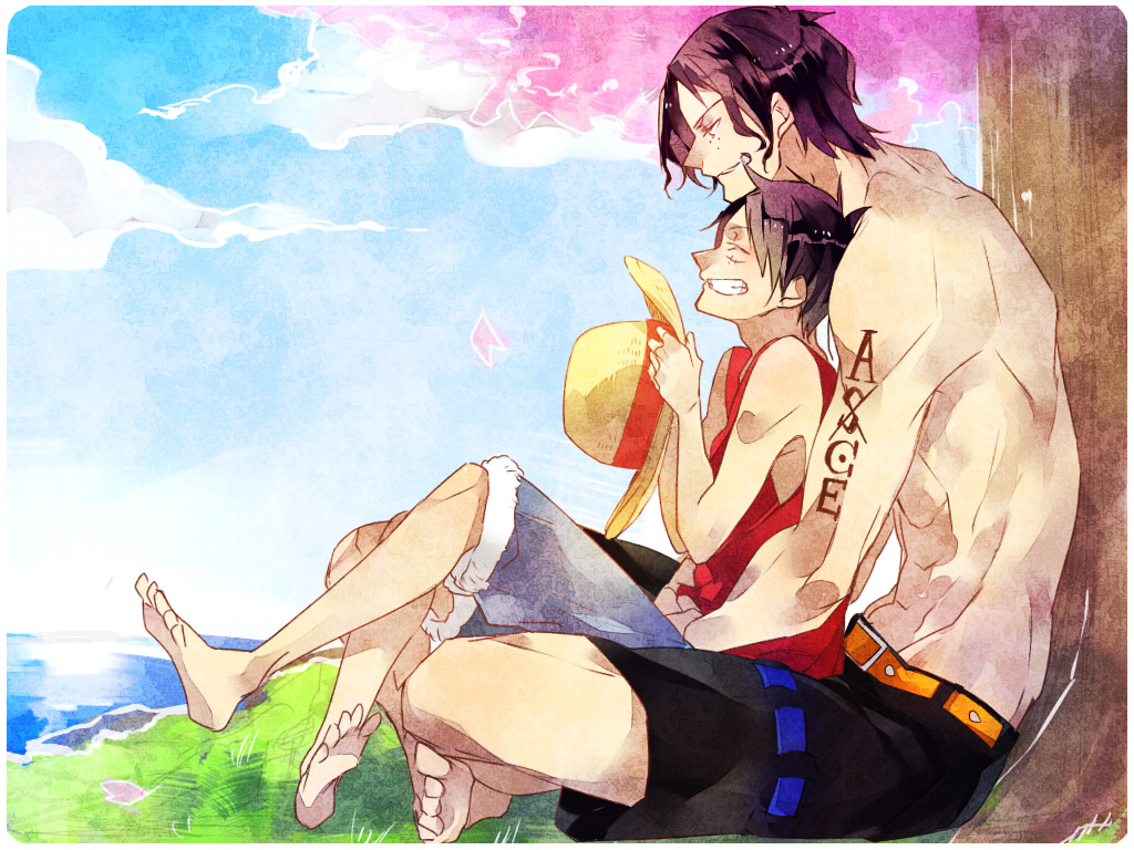 brothers luffy and ace wallpaper - photo #25