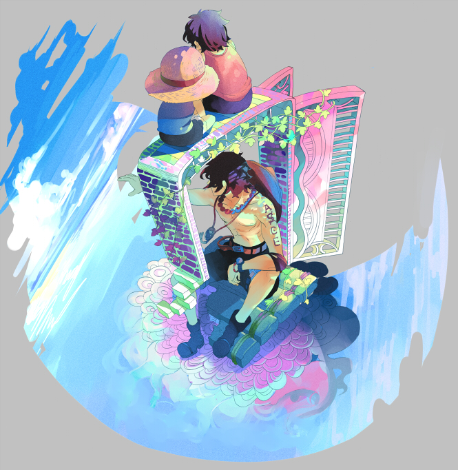 Tags: Anime, Mikabu, ONE PIECE, Portgas D. Ace, Monkey D. Luffy, Pixiv, Fanart, D. Brothers, Whitebeard Pirates, The Eleven Supernovas, Straw Hat Pirates