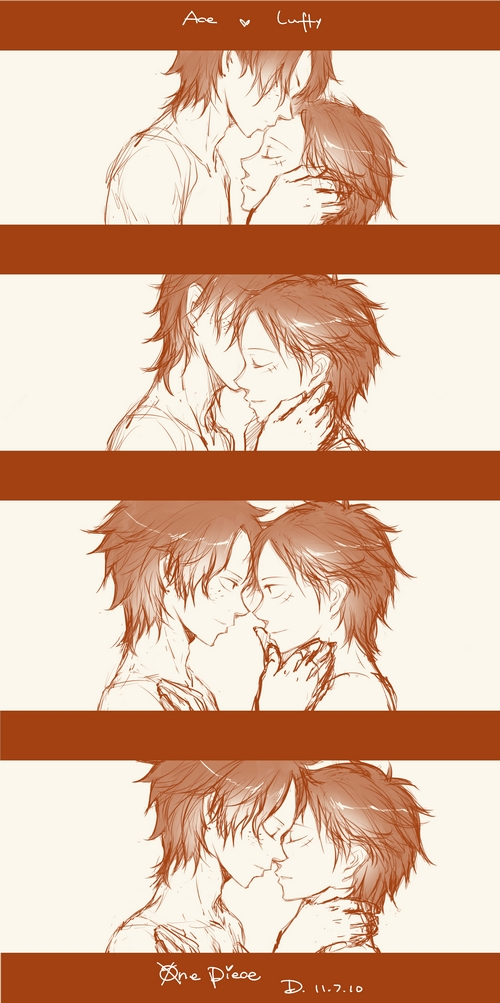 Tags: Anime, Sirius (Artist), ONE PIECE, Portgas D. Ace, Monkey D. Luffy, D. Brothers, Straw Hat Pirates