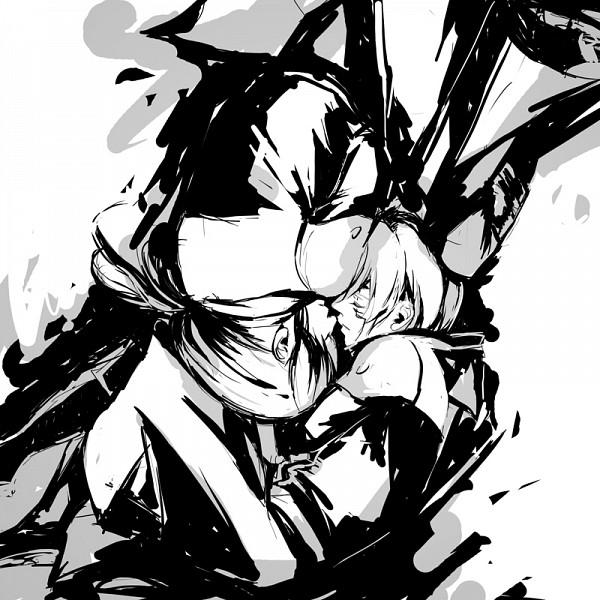 Tags: Anime, Setsushyo, D.Gray-man, Kanda Yuu, Allen Walker, Upside Down, Face to Face
