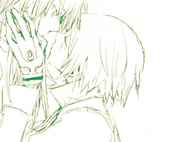 Tags: Anime, D.Gray-man, Kanda Yuu, Allen Walker, Almost Kiss, Mustache