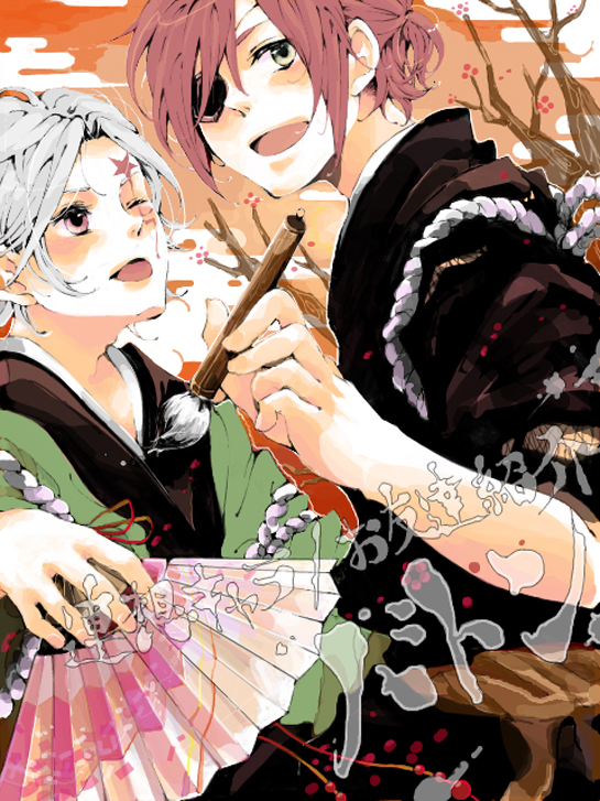 Tags: Anime, D.Gray-man, Lavi, Allen Walker, Fanart