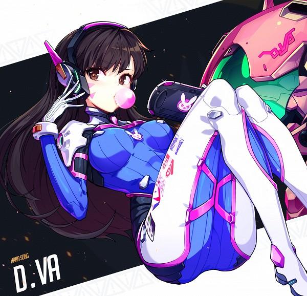 Tags: Anime, Libert, Overwatch, D.Va, Gum, Bodysuit