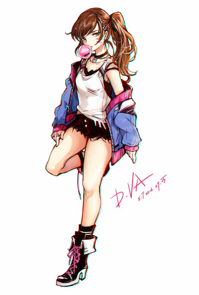 d va overwatch zerochan anime image board
