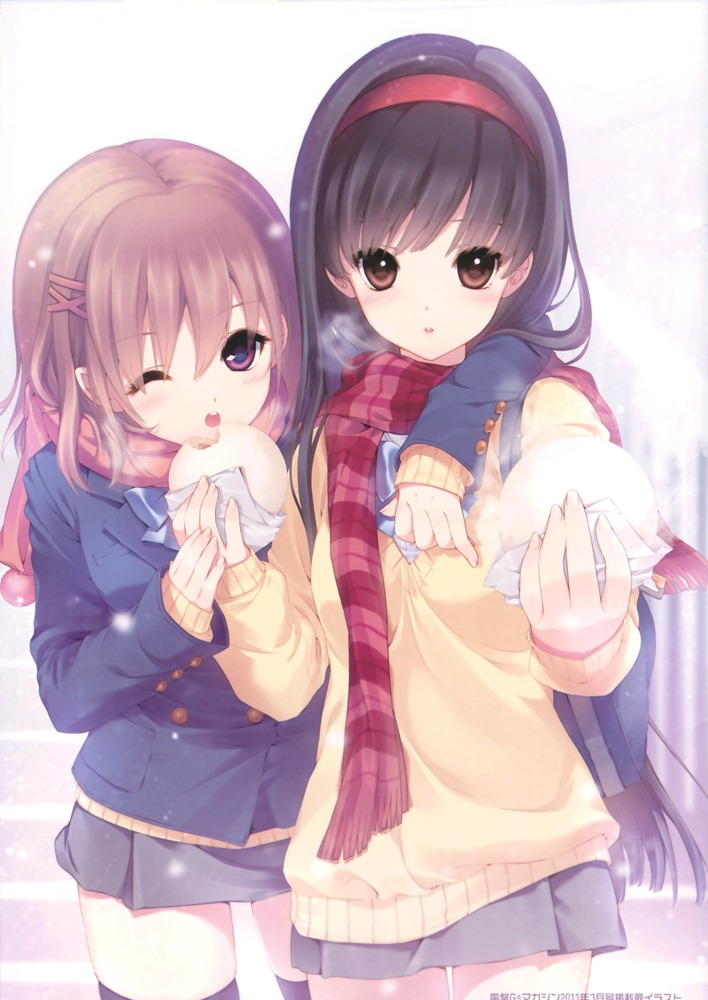 Сделать открытку, картинки две подружки аниме