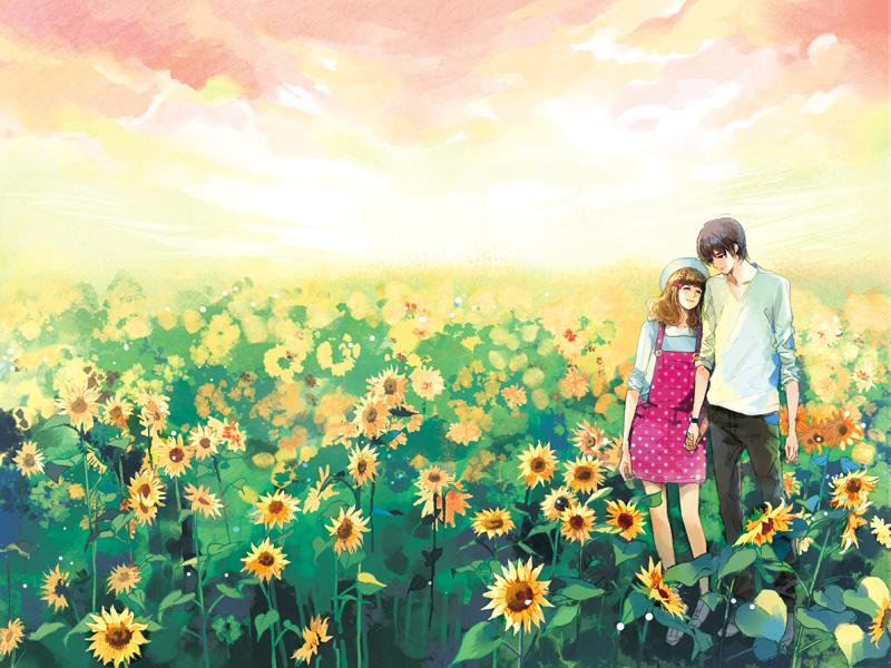 Парень и девушка фото аниме