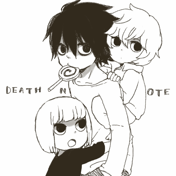 Tags: Anime, yukke, DEATH NOTE, Mello, Near, L Lawliet