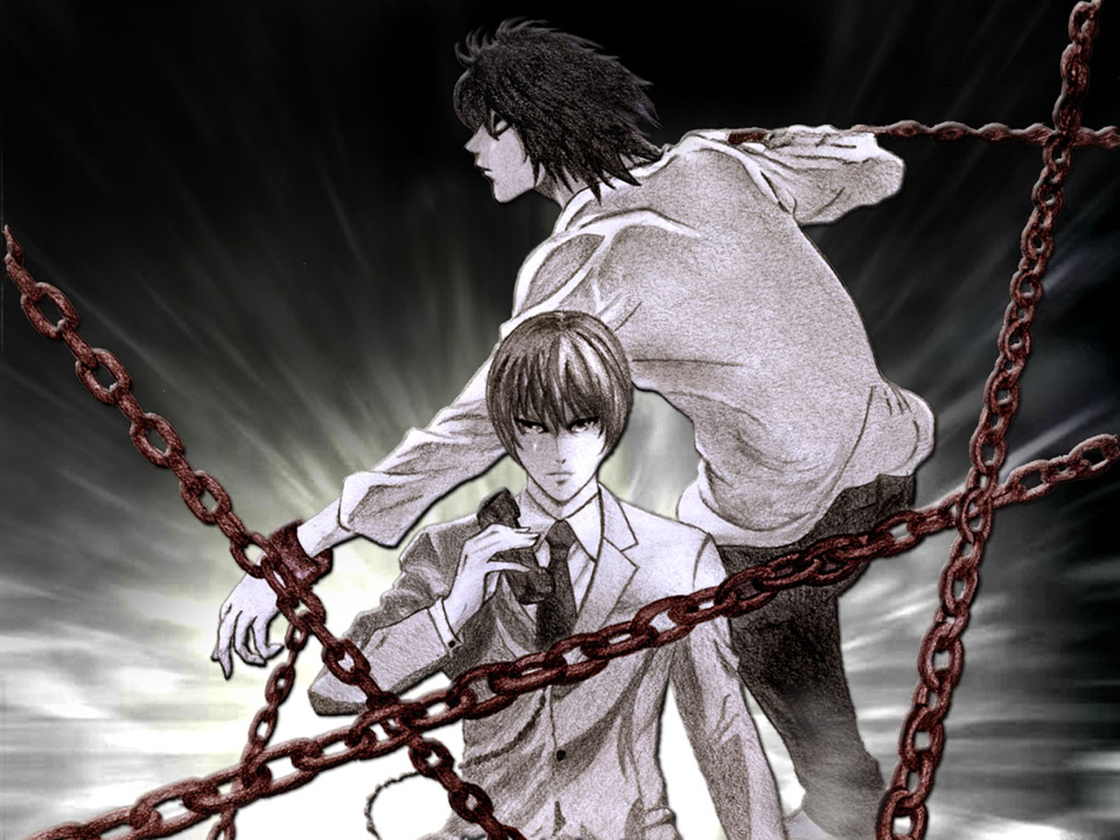 Resultado de imagen para light yagami y L chain