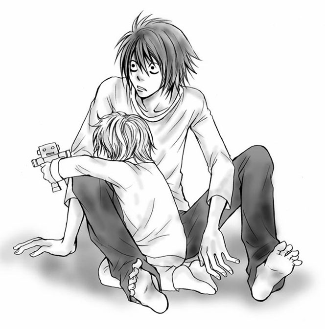 Tags: Anime, DEATH NOTE, Near, L Lawliet, Artist Request
