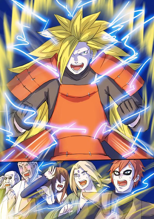 Tags: Anime, biaay002, NARUTO, Tsunade, Terumii Mei, Son Goku (DRAGON BALL), Gaara, Ryoutenbin no Ounoki, Uchiha Madara, A (NARUTO), DRAGON BALL (Parody), Pixiv, Mobile Wallpaper