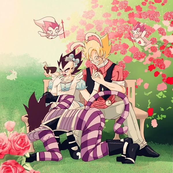 Tags: Anime, Alice in Wonderland, DRAGON BALL, Vegeta, Son Goku (DRAGON BALL), Turles