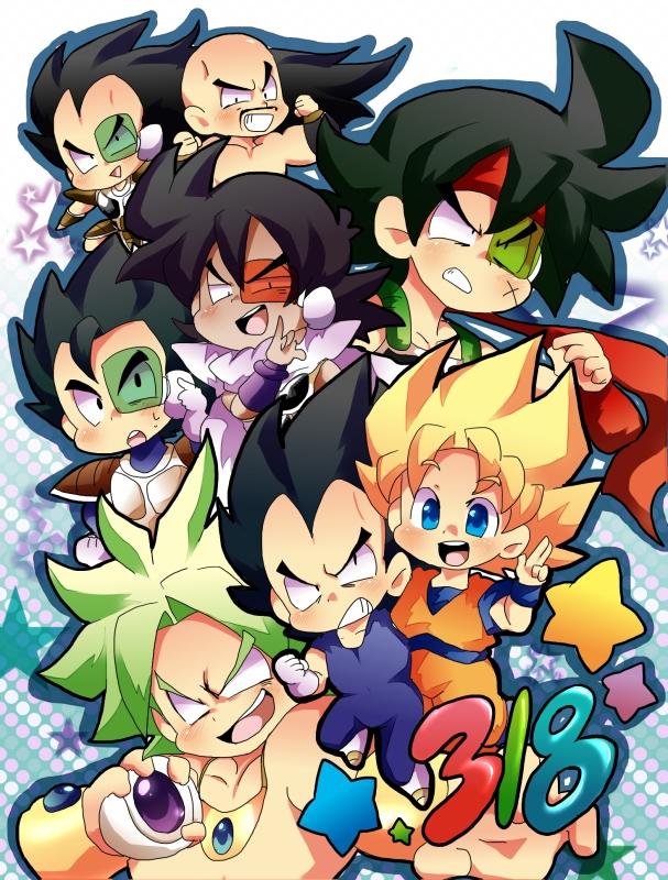 Tags: Anime, Pixiv Id 2329629, DRAGON BALL, DRAGON BALL Z, Bardock (DRAGON BALL), Turles, Broly, Nappa, Son Goku (DRAGON BALL), Tarble, Vegeta, Raditz, Legendary Super Saiyan