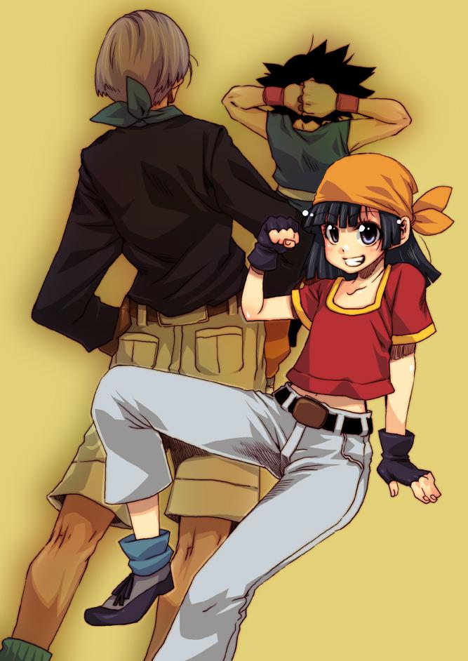 Tags: Anime, Toriyama Akira, Ringo78, DRAGON BALL, DRAGON BALL GT, Trunks Briefs, Pan (DRAGON BALL), Son Goku (DRAGON BALL), Mobile Wallpaper, Pixiv