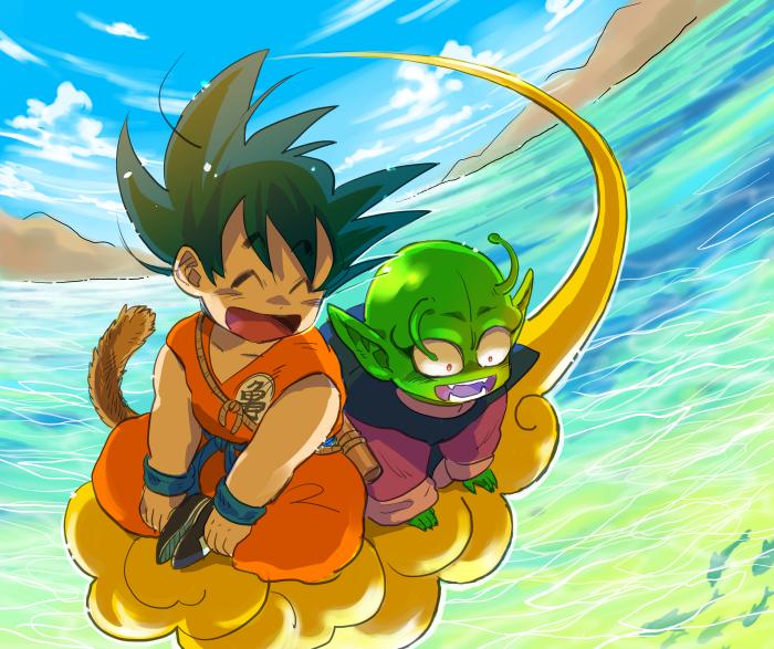kid goku on flying - photo #36