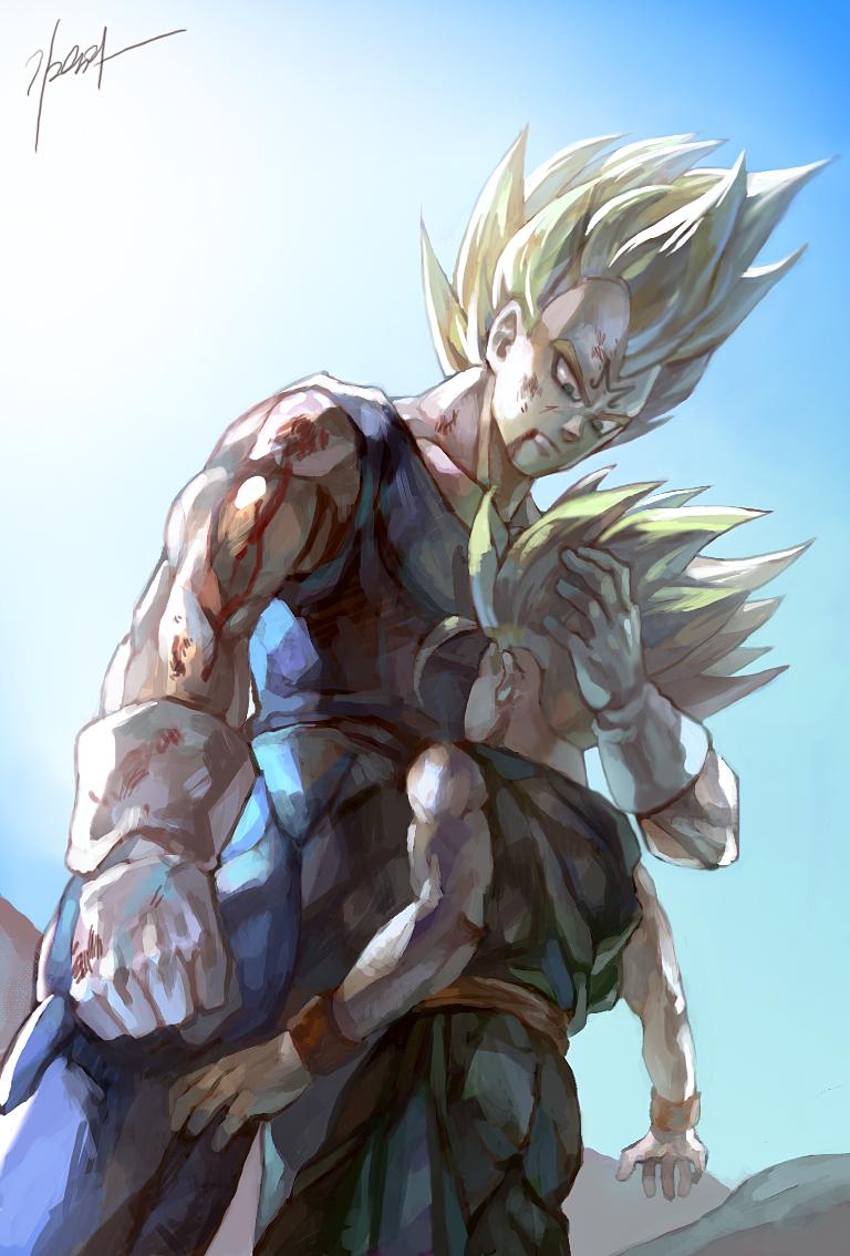 Ocasiones en las que Vegeta muestra más corazon que Goku
