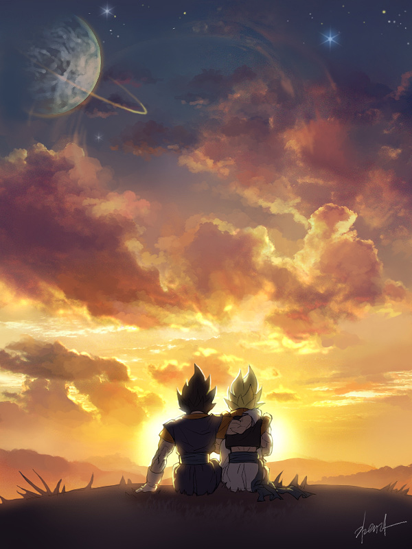 Tags: Anime, Pixiv Id 9040790, DRAGON BALL, DRAGON BALL Z, Son Goku (DRAGON BALL), Gogeta, Vegeta, Vegito, Potara, Character Fusion, deviantART, Fanart, Fanart From DeviantART