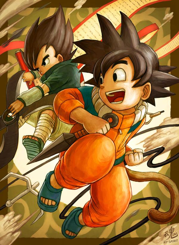 Tags: Anime, Ry-Spirit, DRAGON BALL, Son Goku (DRAGON BALL), Vegeta, Shuriken, Uzumaki Naruto (Cosplay), Uchiha Sasuke (Cosplay), Fanart, deviantART, Fanart From DeviantART