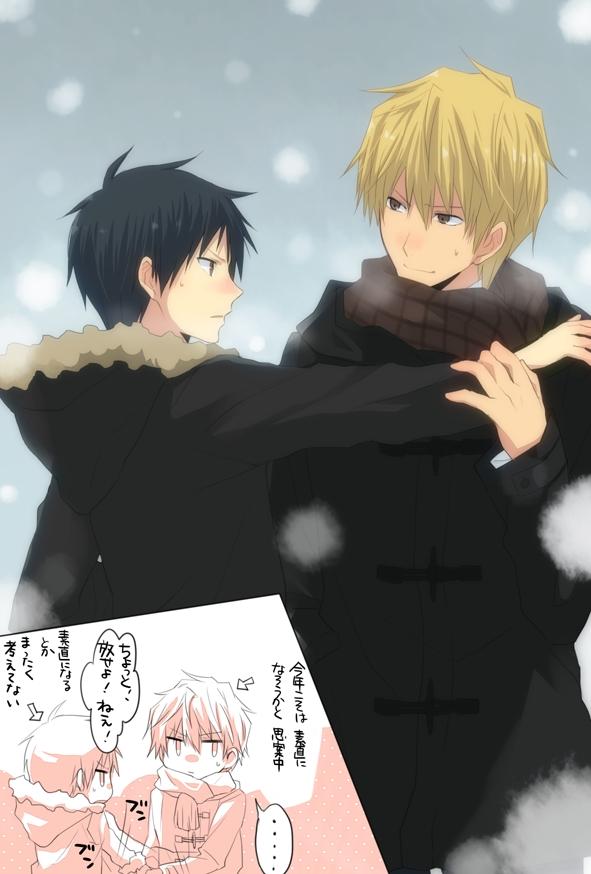 Tags: Anime, 5011 (artist), DURARARA!!, Orihara Izaya, Heiwajima Shizuo, Mobile Wallpaper, Pixiv, Fanart From Pixiv, Fanart, Shizaya