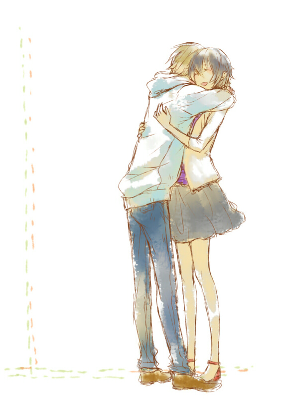 Durarara mobile wallpaper 165283 zerochan anime image - Tight hug wallpaper ...
