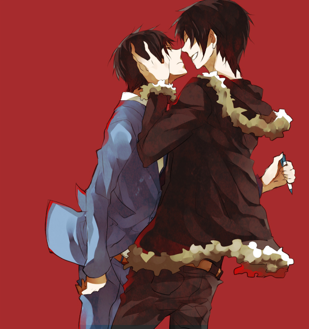 Tags: Anime, DURARARA!!, Ryuugamine Mikado, Orihara Izaya