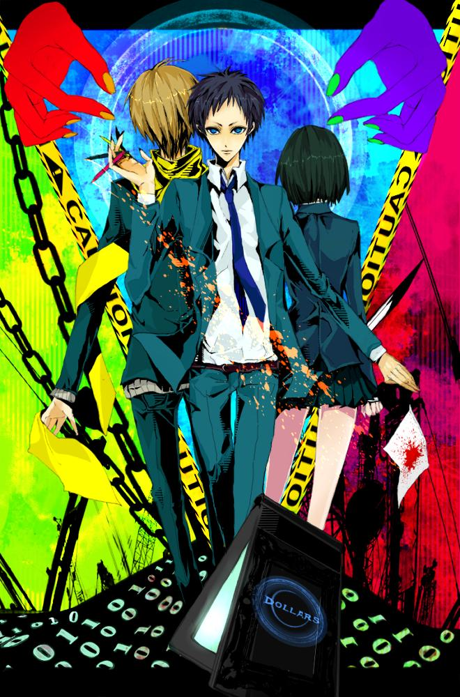 Tags: Anime, Pixiv Id 573568, DURARARA!!, Ryuugamine Mikado, Sonohara Anri, Kida Masaomi