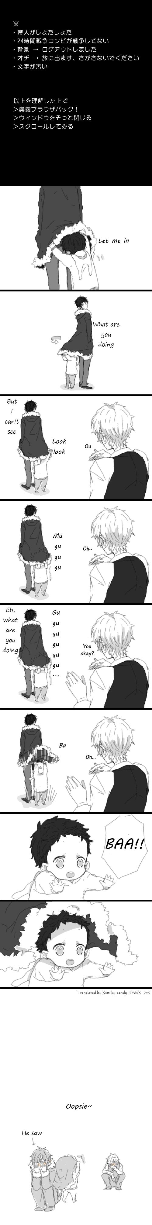 Tags: Anime, Pixiv Id 1742810, DURARARA!!, Ryuugamine Mikado, Heiwajima Shizuo, Orihara Izaya, Comic, Translated, Pixiv