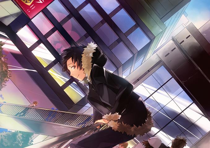 Tags: Anime, Hakoda Eko, DURARARA!!, Harima Mika, Yagiri Seiji, Heiwajima Shizuo, Orihara Izaya, Pixiv, Fanart