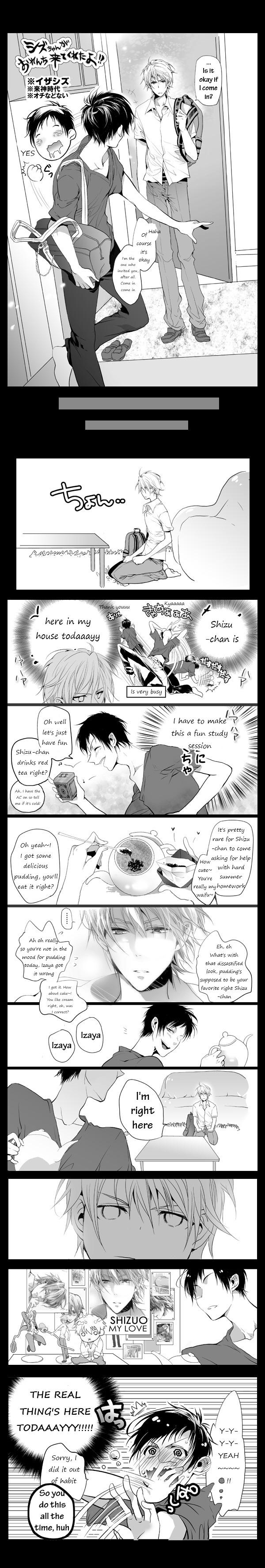 Tags: Anime, Owal, DURARARA!!, Heiwajima Shizuo, Orihara Izaya, Fanart, Pixiv, Translated, Comic